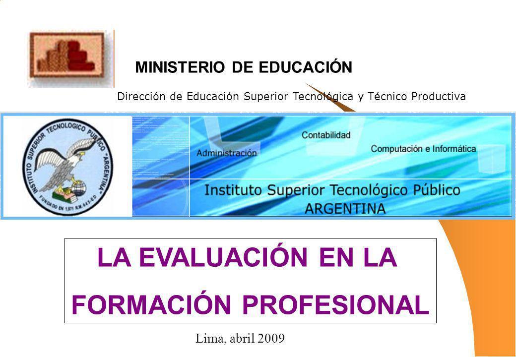MINISTERIO DE EDUCACIÓN FORMACIÓN PROFESIONAL