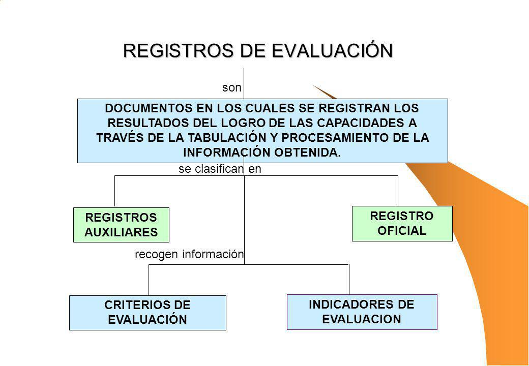 REGISTROS DE EVALUACIÓN