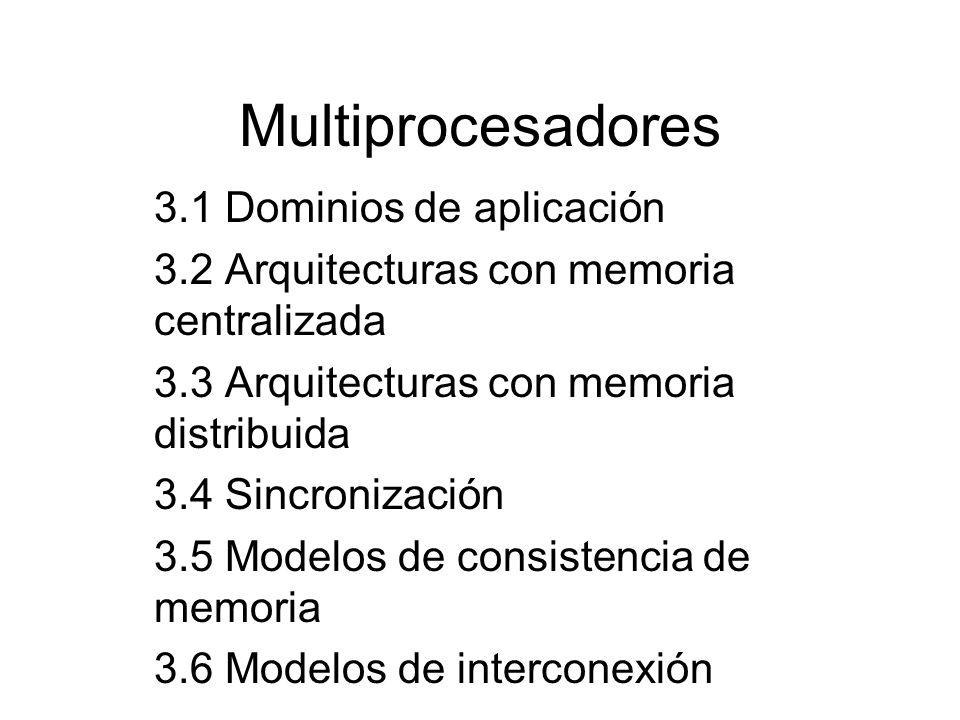 Multiprocesadores 3.1 Dominios de aplicación