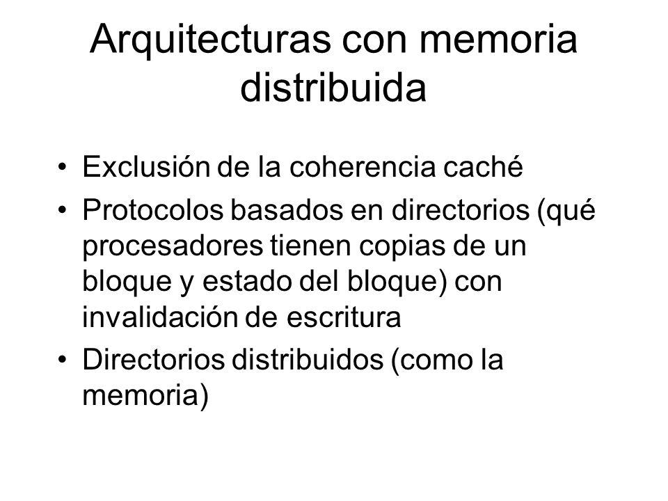 Arquitecturas con memoria distribuida