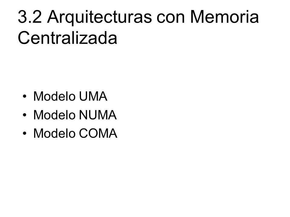 3.2 Arquitecturas con Memoria Centralizada