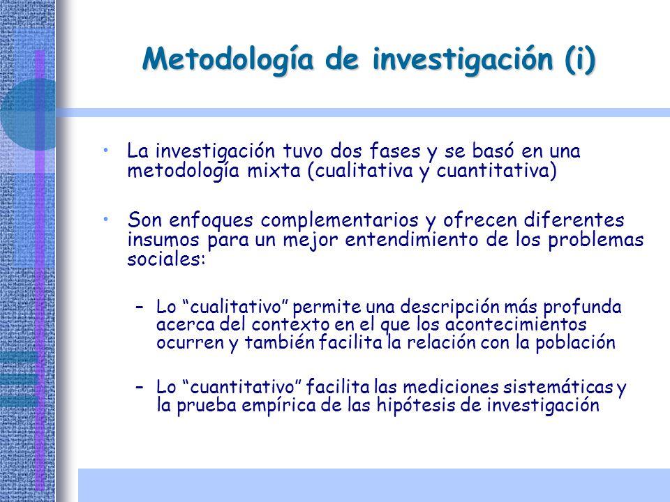 Metodología de investigación (i)