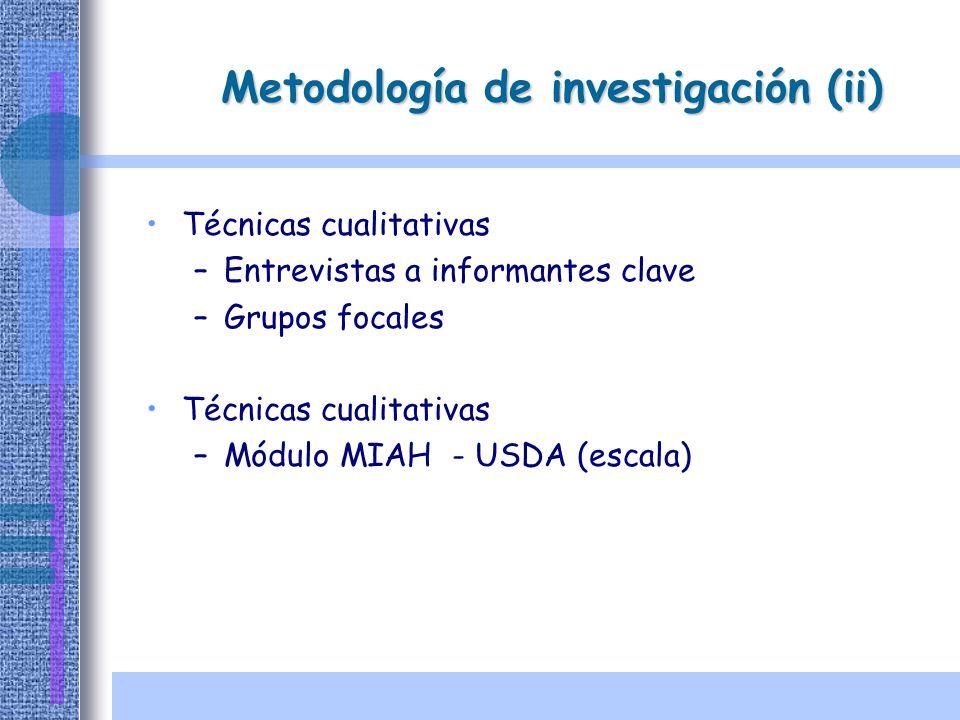 Metodología de investigación (ii)