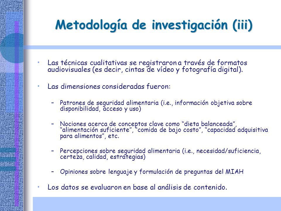 Metodología de investigación (iii)