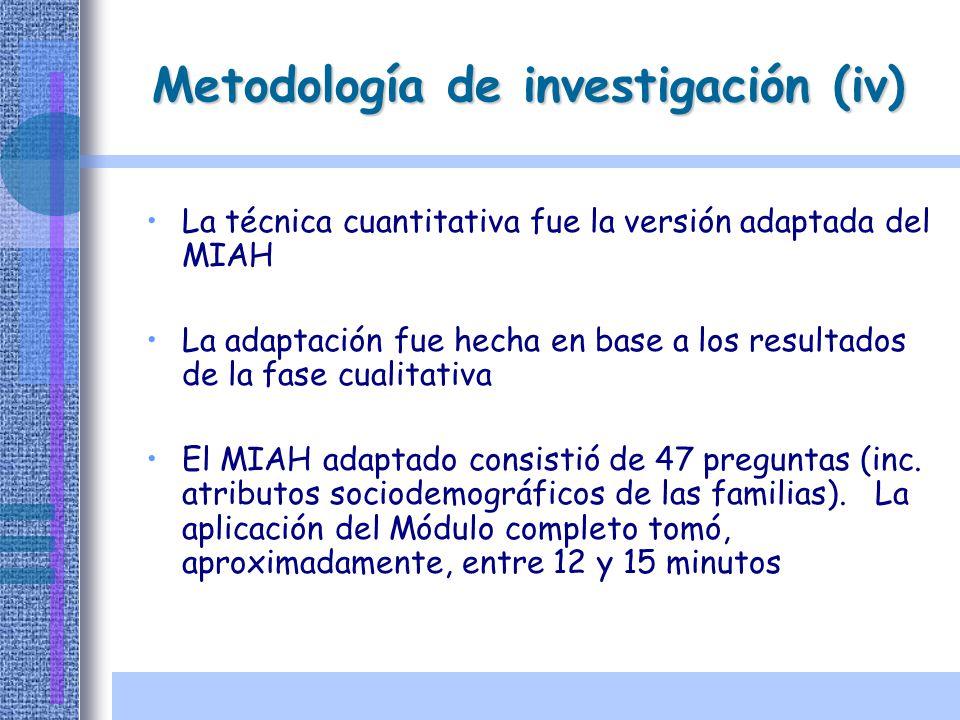 Metodología de investigación (iv)