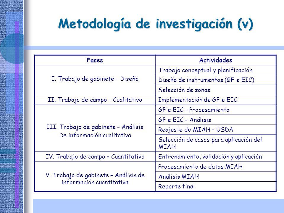 Metodología de investigación (v)