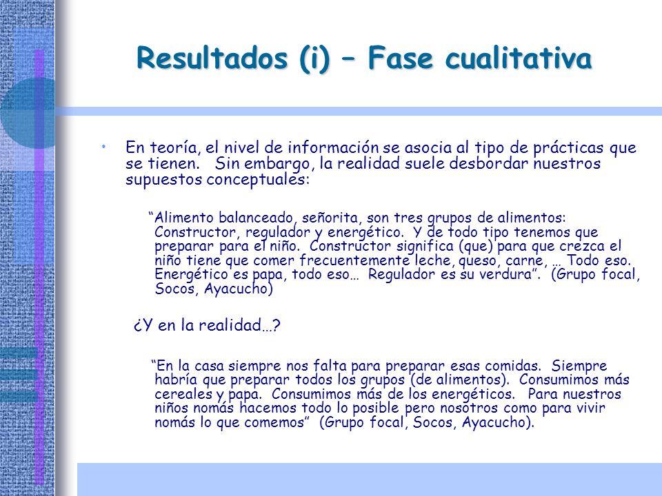 Resultados (i) – Fase cualitativa