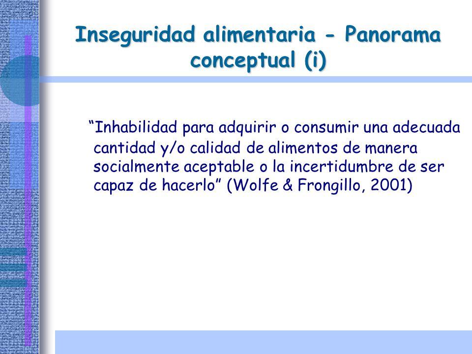Inseguridad alimentaria - Panorama conceptual (i)