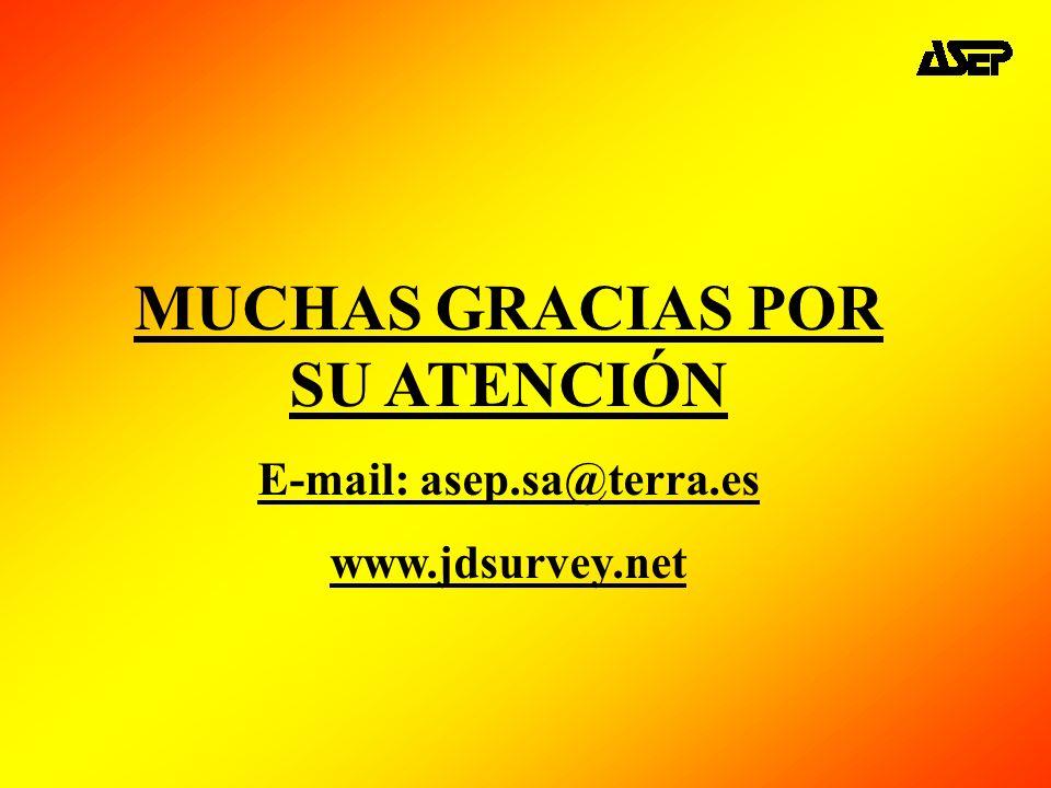 MUCHAS GRACIAS POR SU ATENCIÓN E-mail: asep.sa@terra.es