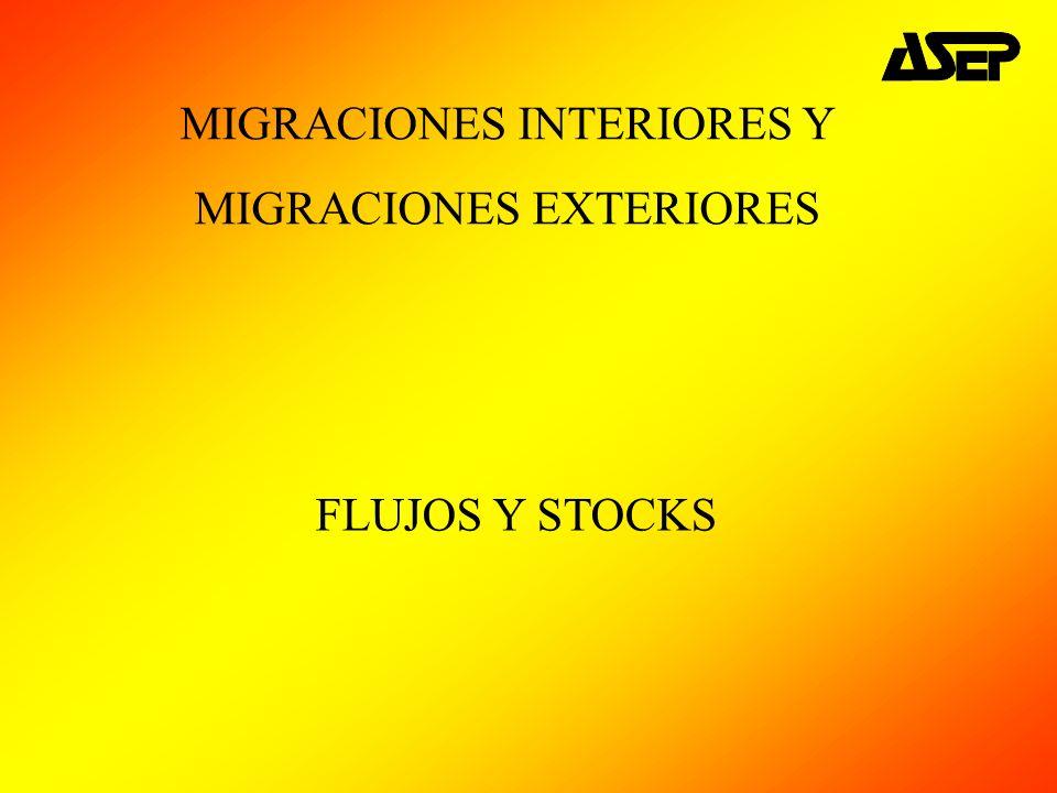 MIGRACIONES INTERIORES Y MIGRACIONES EXTERIORES