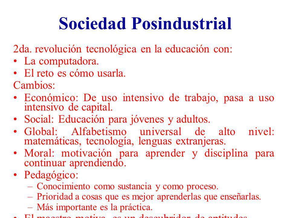 Sociedad Posindustrial