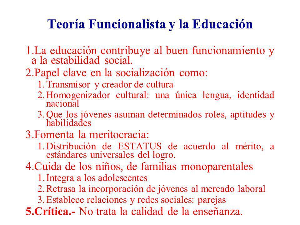 Teoría Funcionalista y la Educación