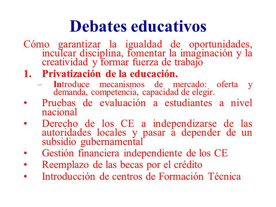 Debates educativos