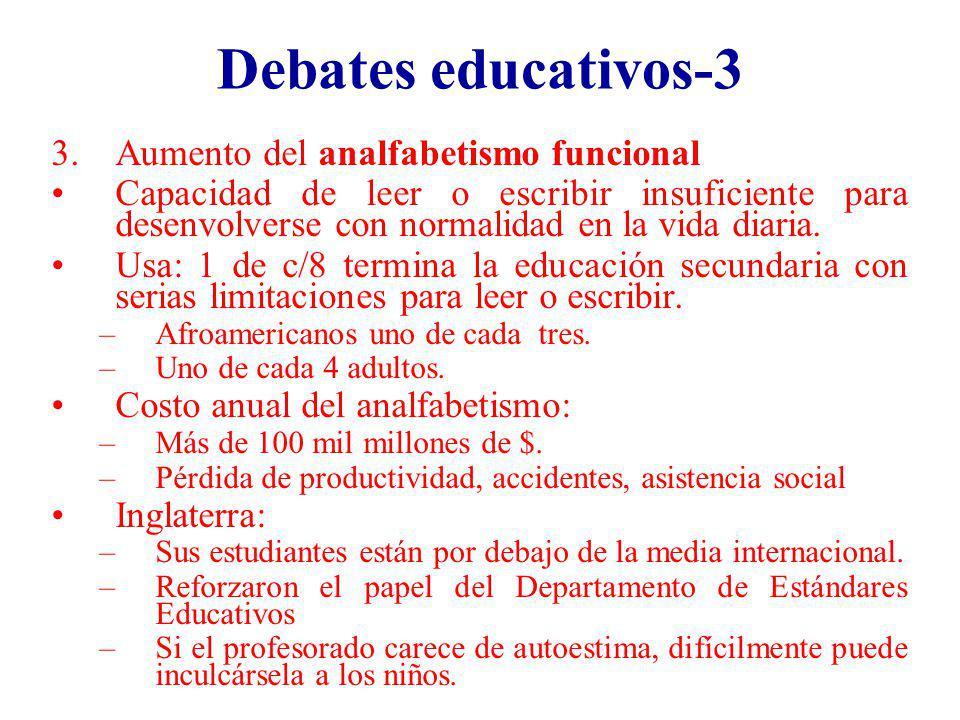 Debates educativos-3 Aumento del analfabetismo funcional