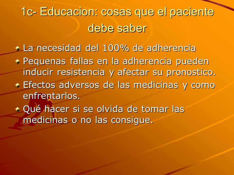 1c- Educacion: cosas que el paciente debe saber