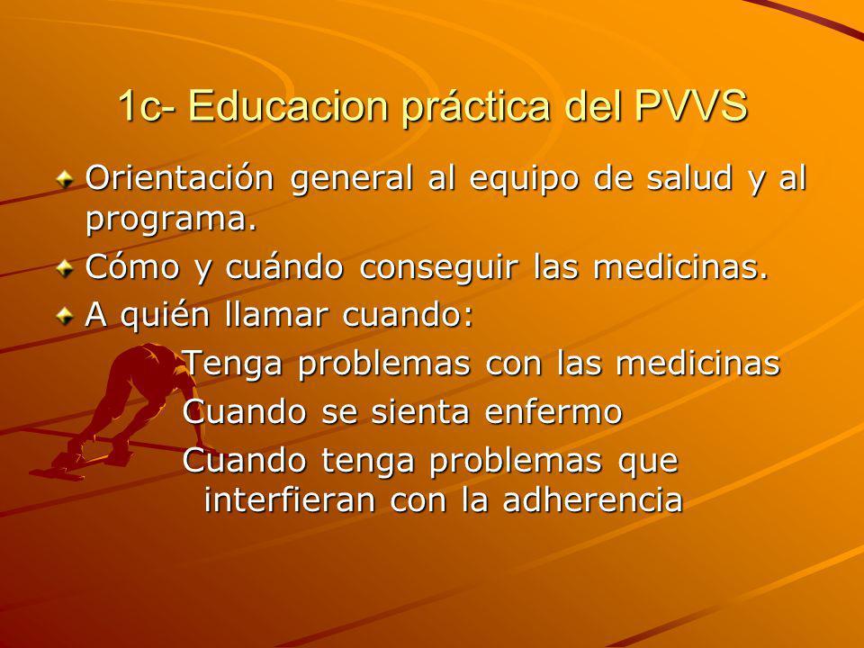 1c- Educacion práctica del PVVS