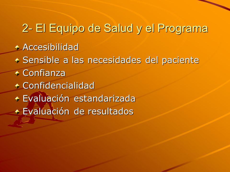 2- El Equipo de Salud y el Programa