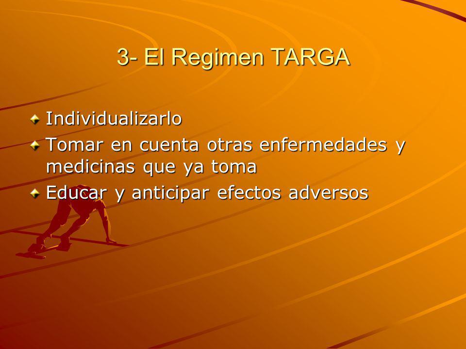 3- El Regimen TARGA Individualizarlo