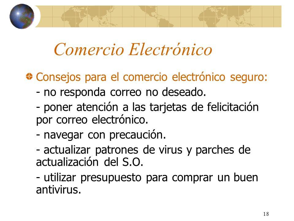 Comercio Electrónico Consejos para el comercio electrónico seguro: