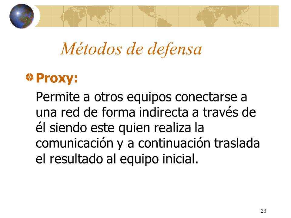Métodos de defensa Proxy: