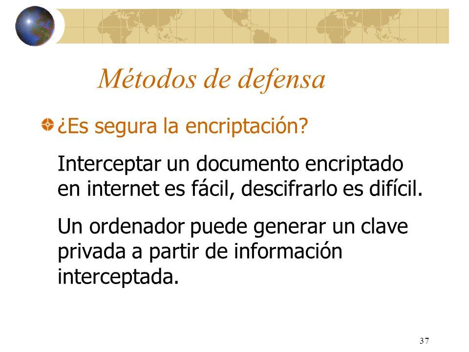 Métodos de defensa ¿Es segura la encriptación