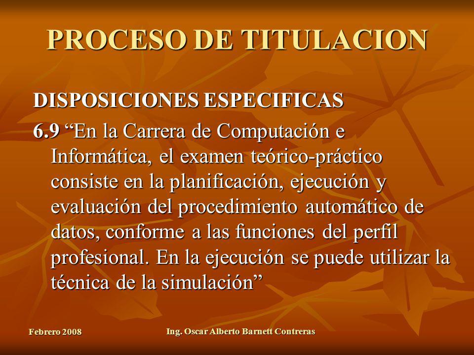 Ing. Oscar Alberto Barnett Contreras
