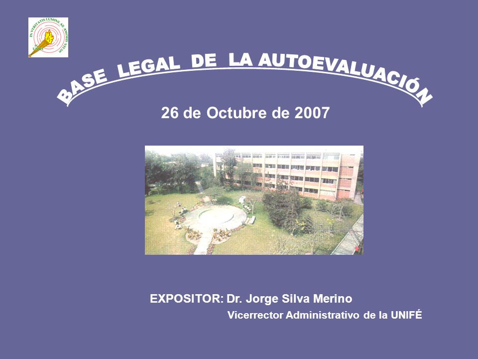 BASE LEGAL DE LA AUTOEVALUACIÓN