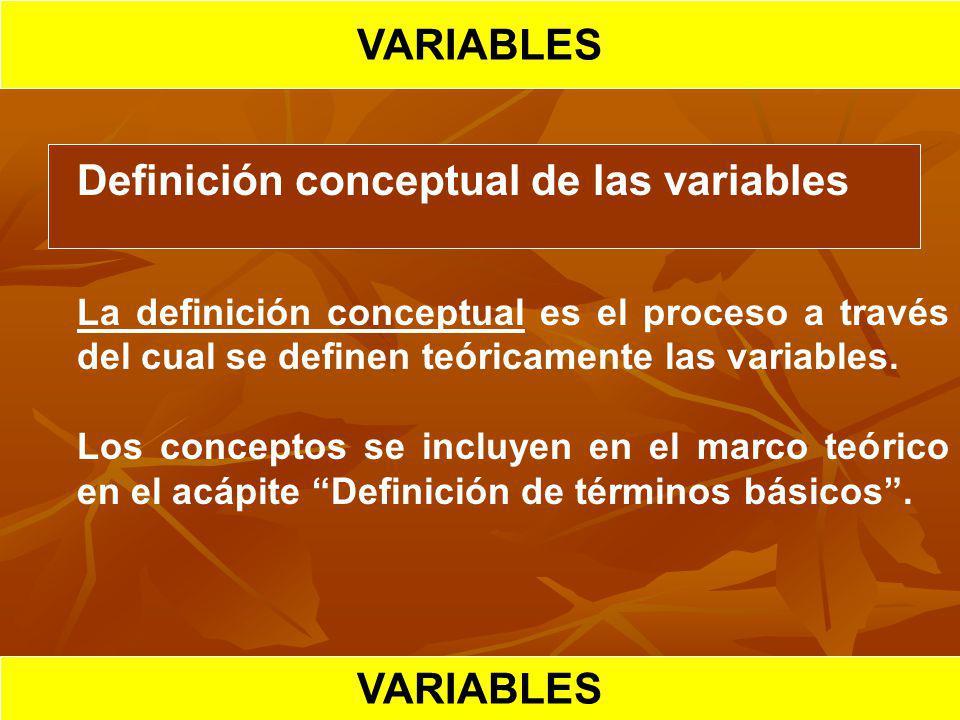 VARIABLES VARIABLES VARIABLES