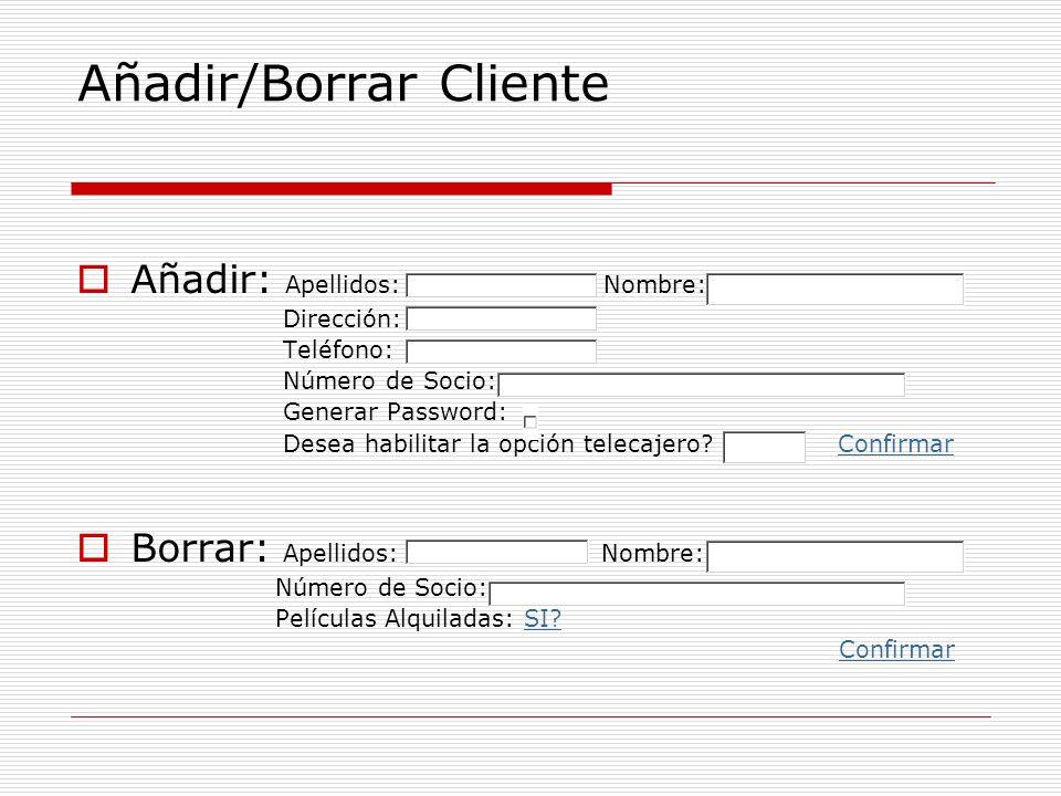 Añadir/Borrar Cliente