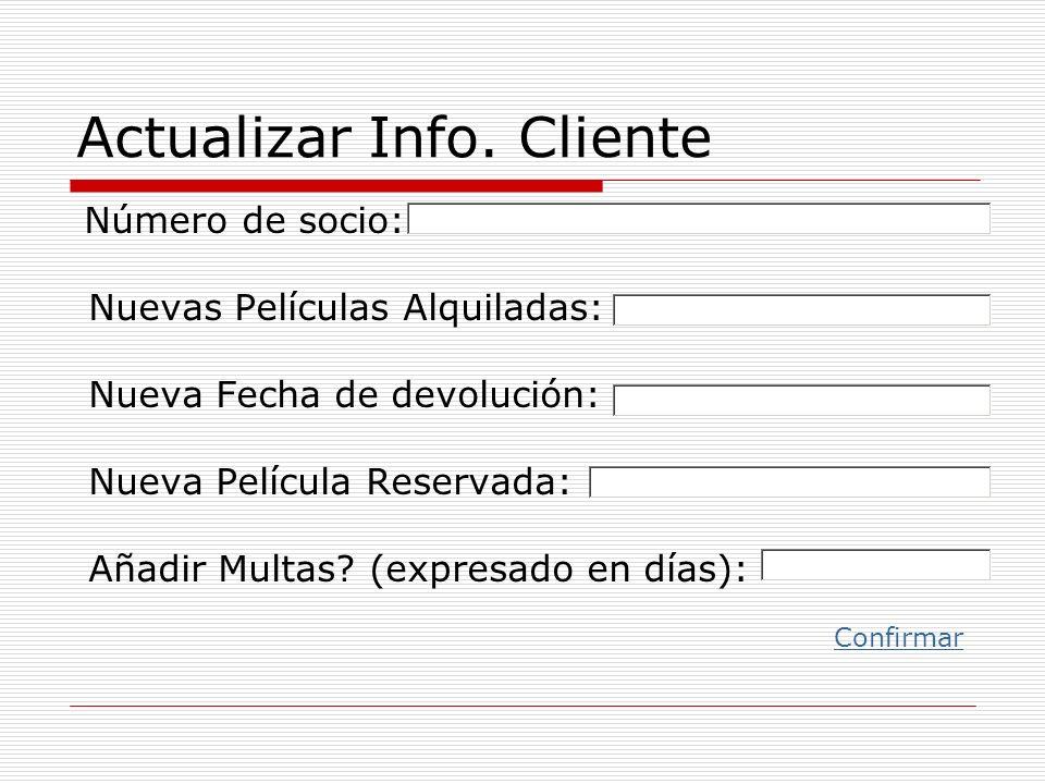 Actualizar Info. Cliente
