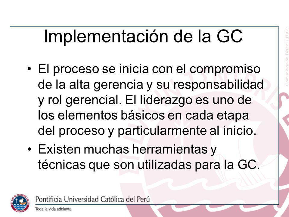 Implementación de la GC