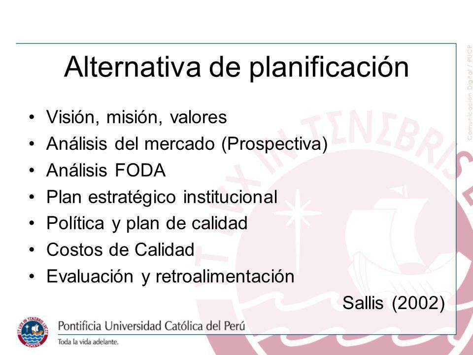 Alternativa de planificación