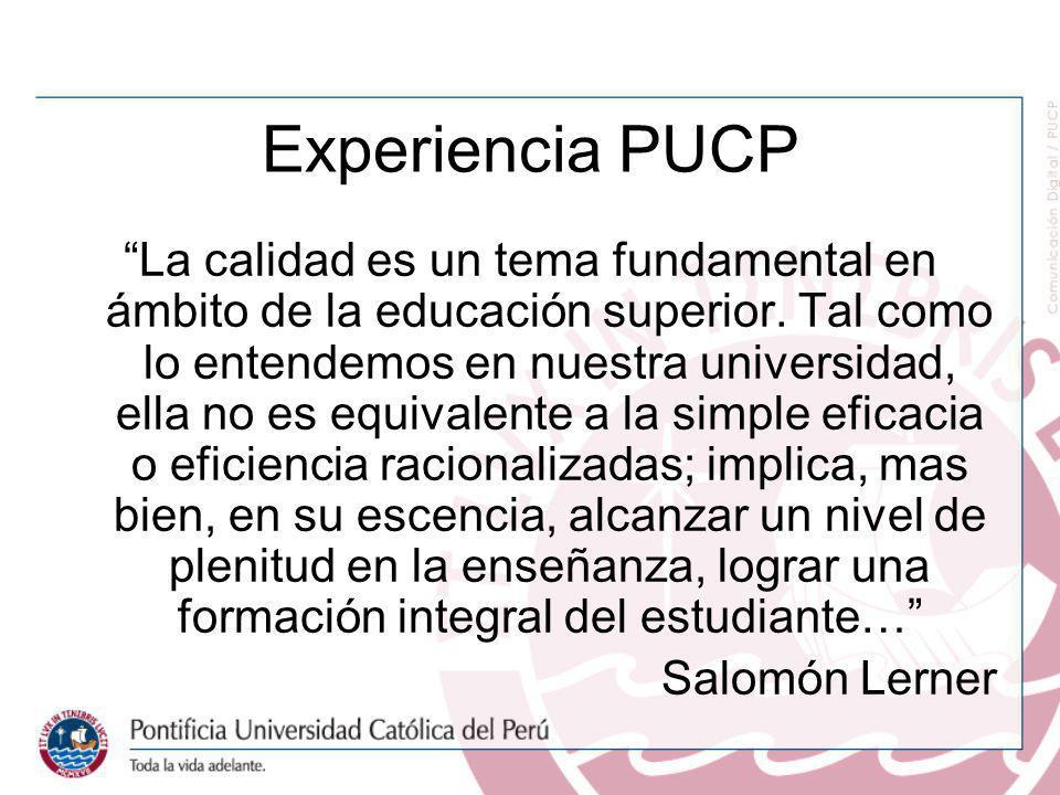 Experiencia PUCP