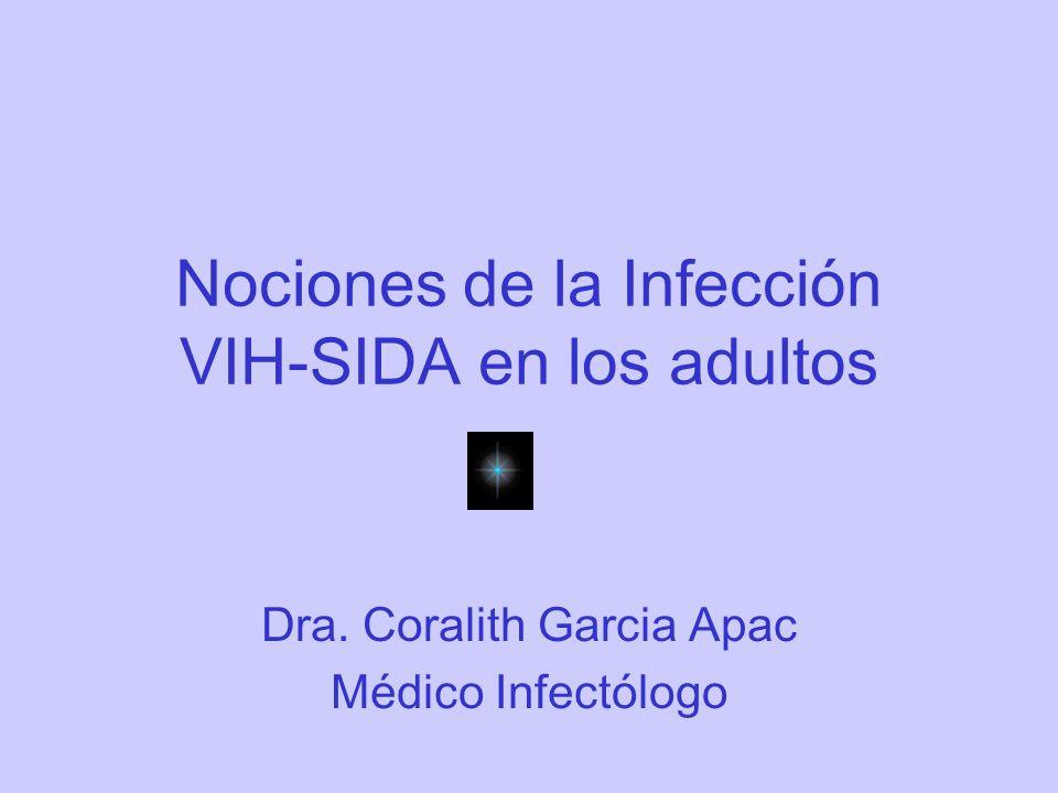 Nociones de la Infección VIH-SIDA en los adultos