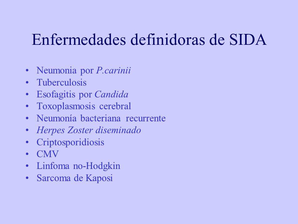 Enfermedades definidoras de SIDA