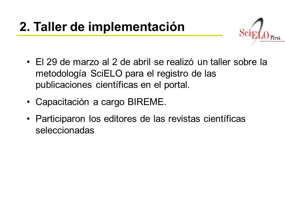 2. Taller de implementación