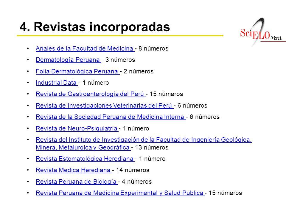 4. Revistas incorporadas