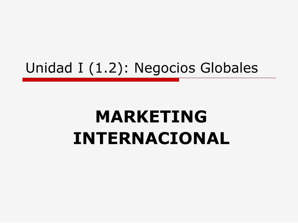 Unidad I (1.2): Negocios Globales