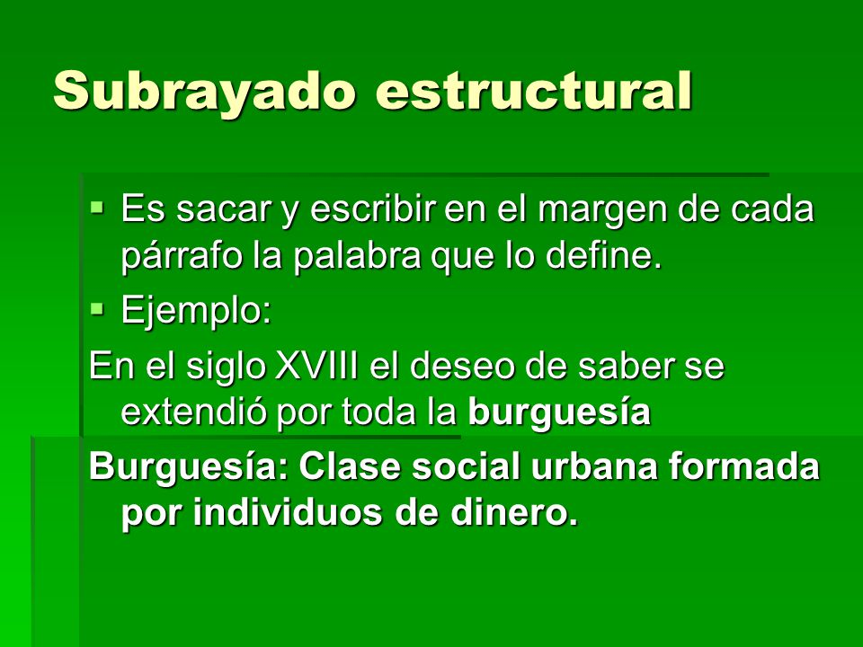 Subrayado estructural