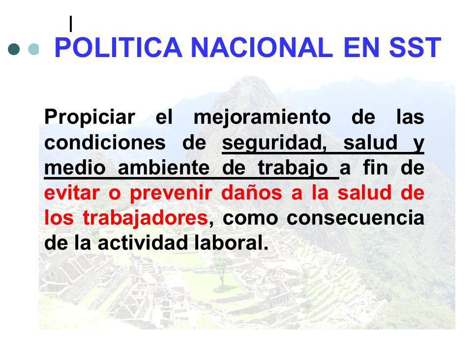 POLITICA NACIONAL EN SST
