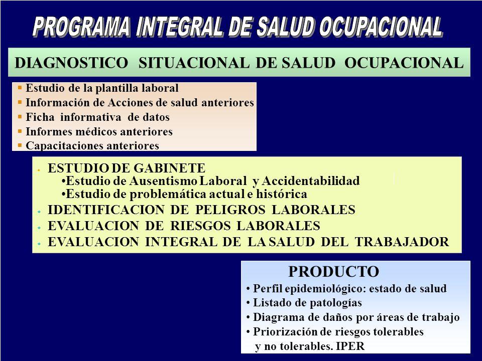 DIAGNOSTICO SITUACIONAL DE SALUD OCUPACIONAL