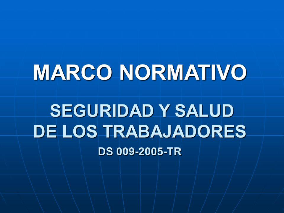MARCO NORMATIVO SEGURIDAD Y SALUD DE LOS TRABAJADORES
