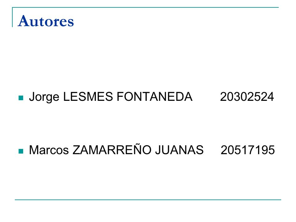 Autores Jorge LESMES FONTANEDA 20302524