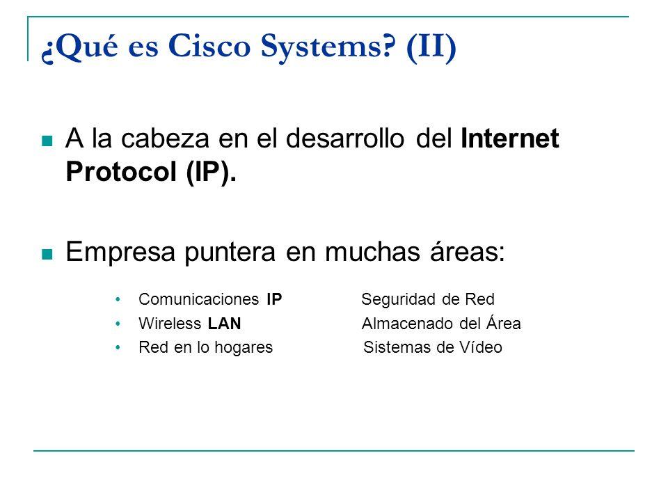 ¿Qué es Cisco Systems (II)