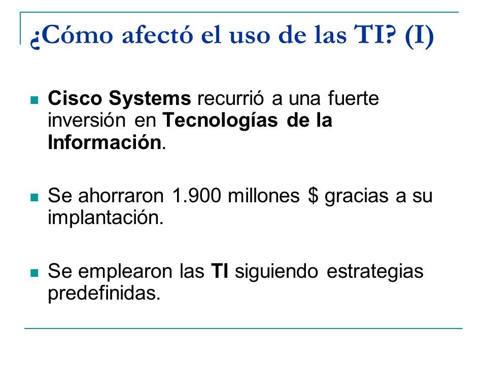 ¿Cómo afectó el uso de las TI (I)