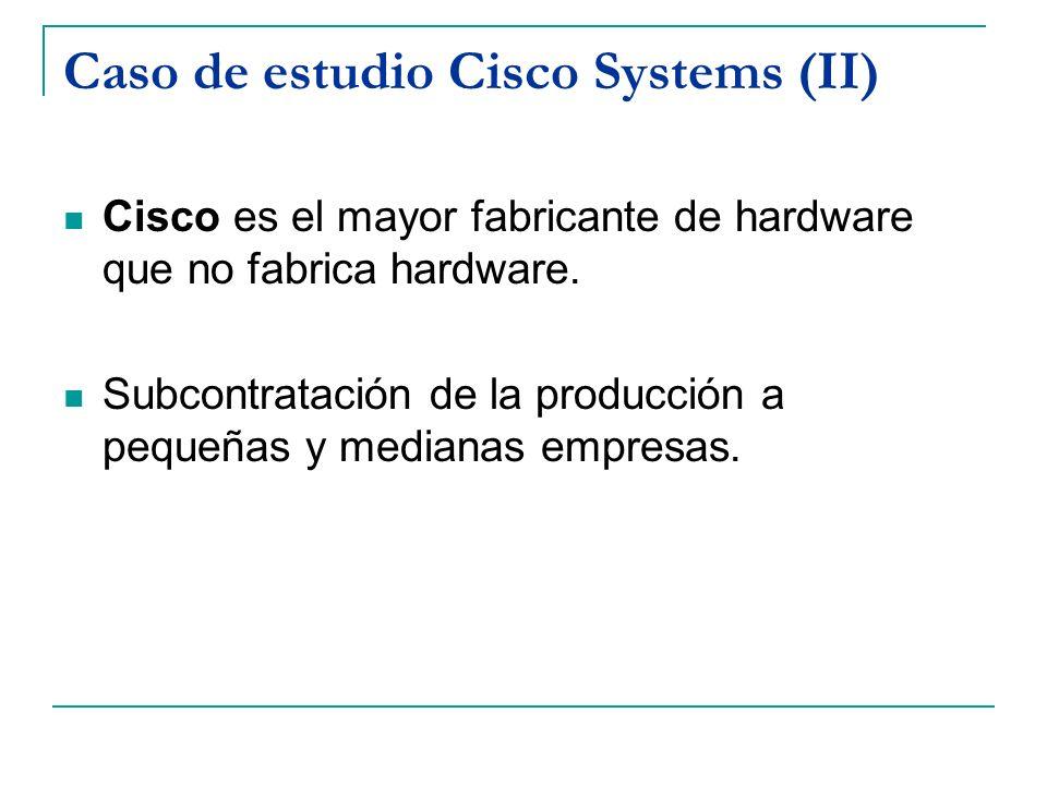 Caso de estudio Cisco Systems (II)