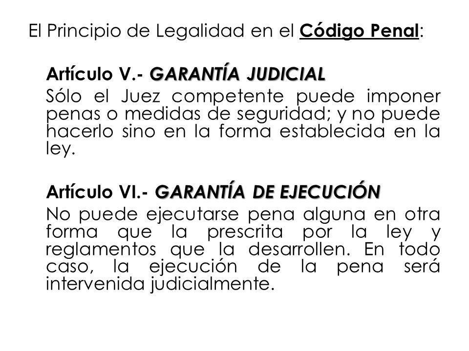 El Principio de Legalidad en el Código Penal: Artículo V