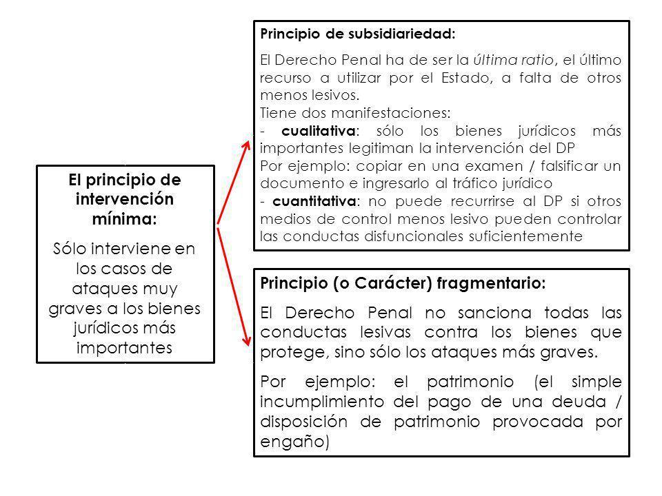 El principio de intervención mínima: