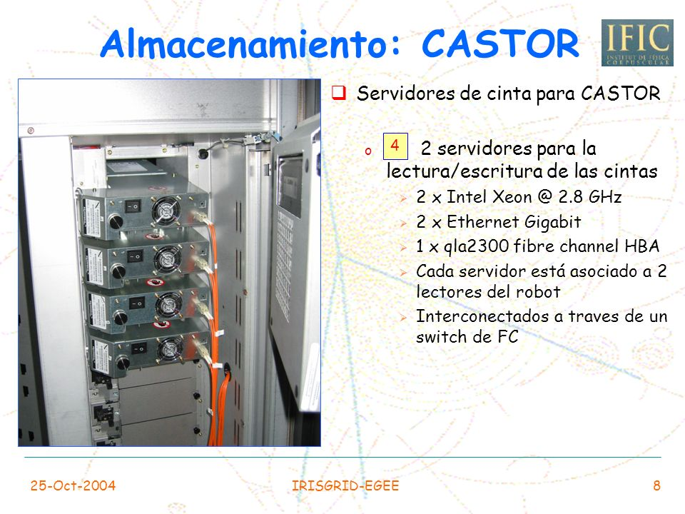 Almacenamiento: CASTOR