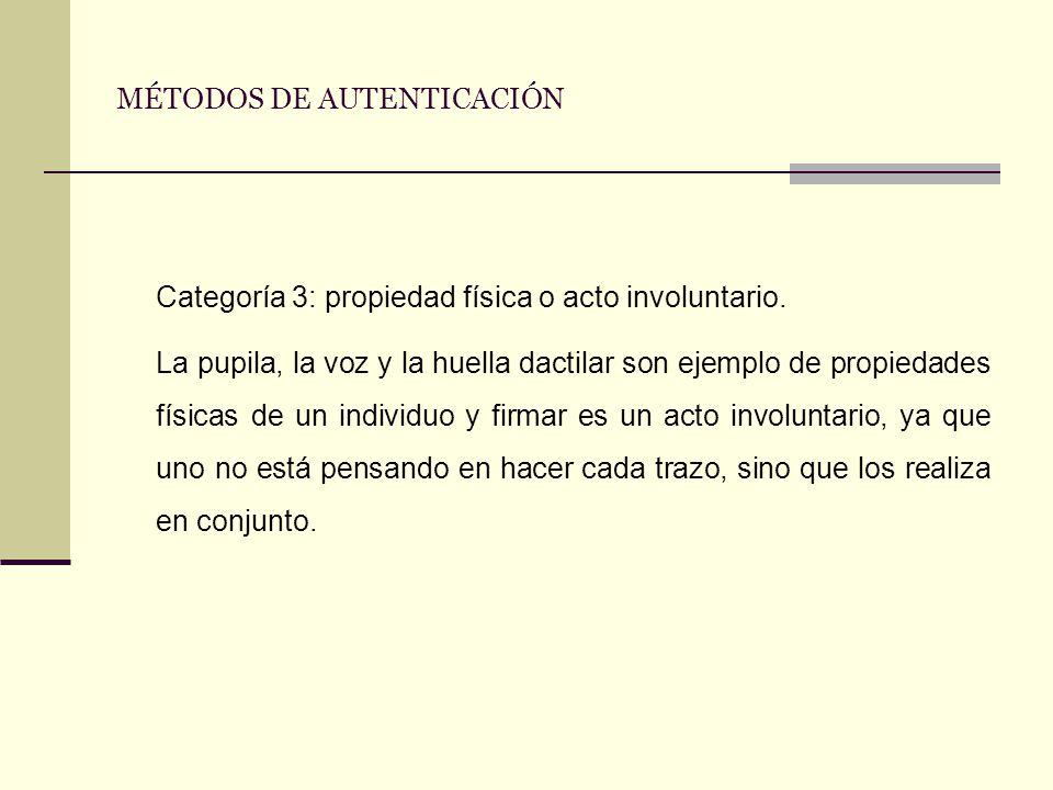 MÉTODOS DE AUTENTICACIÓN